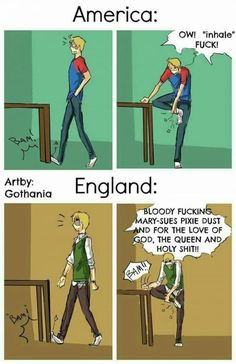 Humor Discover Differences between American English and British English - Hetalia - Best Humor Funny Funny Relatable Memes Funny Jokes Hilarious Memes Humor It Memes Funny Science Jokes Satire Humor Stupid Funny Funny Cute All Meme, Stupid Funny Memes, Funny Relatable Memes, Funny Stuff, Funny Shit, Funny Things, Humor English, Funny Jokes In English, Hetalia Funny