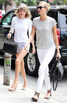 Beautiful besties! The inseparable Taylor Swift and Karlie Kloss arrived for lunch at Sarabeth's in NYC's Tribeca nabe.