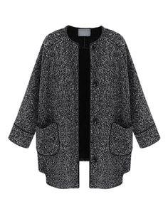 Grey Longline Woollen Coat - Coats