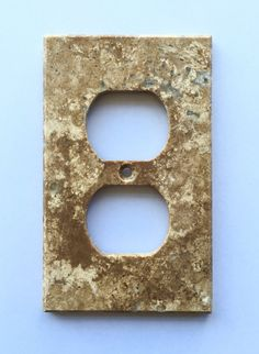Ivory Travertine Double Toggle Duplex Switch Wall Plate Switch