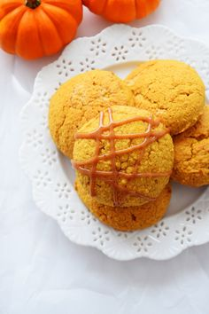 Spiced Pumpkin Oatmeal Cookies with a delicious Pumpkin – PB Glaze ...