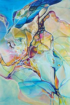 """""""Fantastic Voyage"""" x Acrylic on Canvas by Monika Wright. Available at Crescent Hill Gallery in Mississauga, ON Abstract Watercolor, Abstract Art, Modern Art, Contemporary Art, Simple Pictures, Meet The Artist, Resin Crafts, Abstract Expressionism, Art Inspo"""