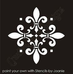 Stencil Fleur de lis decorative 4