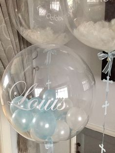 Making your party perfect with our professional, reliable balloon delivery service. Discover unique & amazing handcrafted personalised gifts for any special occasion. Its A Boy Balloons, Clear Balloons, Bubble Balloons, Confetti Balloons, Baby Shower Balloons, Bubbles, Christening Balloons, Boy Christening, Baby Baptism