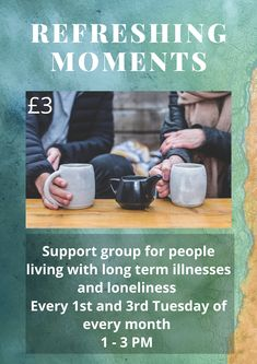 A Community Hub which runs groups to combat lonlinesss and isolation in modern life. Long Term Illness, Interest Groups, Support Groups, Faith Walk, Christian Messages, New Friendship, Listening To You, Loneliness, Alternative