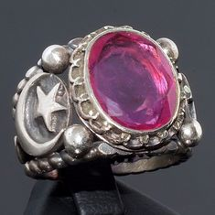 Mens Ring 925 Sterling Silver Ruby Rubin Yaqoot unique handcrafted jewelry #KaraJewels #Handmade