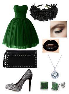 """""""Slytherin Yule Ball: Short Dress"""" by mgfreeze on Polyvore"""