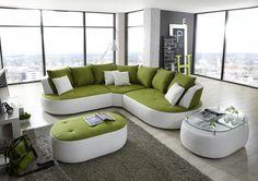 Moderne Möbel für die eigene Loft oder das Apartment - die Wohnlandschaft DENVER mit Neonfarben liegen Sie im Trend. #sofa #couch #möbel #möbelstücke#wohnzimmer#homeinterior #interiordesign #homedecor #decor #einrichtung #furniture #livingroom #livingroomideas #ideas #comfort #relax #upholstered #gepolstert  #entspannung #stressless #ecksofa #cornersofa #modern #neon