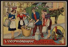 L'Escombriaire felicita a V. les Festes de Nadal. Any 1935. Fons Joan Amades. #Nadal #Christmas #greeting #card