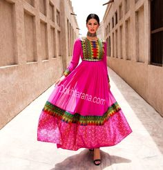 #pink #afghani #dress #style #afghan #jewelry