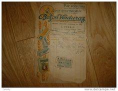 PATES BOZON VERDURAZ A. PERRIN 9 RUE DE LA SOUS PREFECTURE ROANNE 1923 BLANCHIN