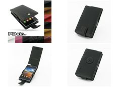 PDair Leather Case for LG Optimus L5 E610 - Flip Type (Black)