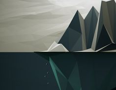 low poly iceburg