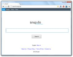 Search.Snap.do is a malicious website referred to a disgusting browser hijacker which penetrates the target computer via shady online shareware and modifies Internet browser settings by replacing one's search provider and homepage with its own domain.
