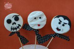 galletas halloween, cookies halloween, momia, drácula, calavera ...