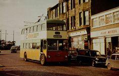 Glasgow trolleybus at Clarkston Toll. Glasgow City, Coaches, Buses, Britain, Scotland, Transportation, University, Memories, History