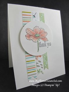 Peaceful Petals and strips of Sweet Sorbet Designer Series Paper from Sale-a-bration