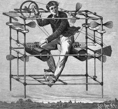 """""""Magazine Illustration of an Aerial Machine Designed by Dr. W.O. Ayres, 1885"""" (via)"""