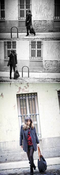 street style / red & black / prada sunglasses  bárbara crespo  http://www.elblogdebarbaracrespo.com/