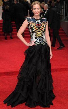Emily Blunt in Alexander McQueen at the 2017 BAFTAs