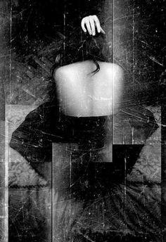 """Nighttime, one tune, half string, no voice"" Self Portrait by Ljiljana"