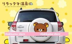 new collection Cute Rilakkuma Bear Car Stickers Glasskin 13 - Rilakkumastore webshop pluches stationary mobile bags clothes accessories pyjamas