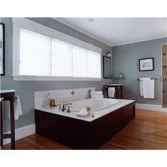 Master bath tub. Like the wood around the tub instead of tile.