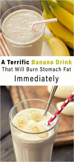 A Terrific Banana Drink That Will Burn Stomach Fat Immediately #fat #fitness #health #beauty #diy #banana #drink #detox #stomach #tummy #abs