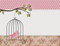 Vintage Flowers with Birds: Free Printable Kit. Scrapbook Background, Paper Background, Homemade Journal, Purple Bird, Bird Artwork, Baby Album, Ideas Para Fiestas, Note Paper, Baby Cards