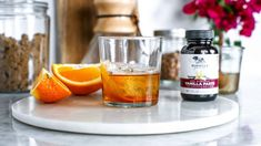 This is a fresh twist on the most classic of cocktails. The old fashioned has been quenching thirsts for over 200 years, and this vanilla variant proves why… Happy Hour Food, Happy Hour Drinks, Fun Drinks, Vanilla Paste, Vanilla Recipes, Bean Paste, Orange Peel, Simple Syrup, Holiday Recipes