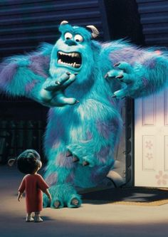 "Mary Gibbs (as Boo) and John Goodman (as Sulley) - ""Monsters, Inc."""