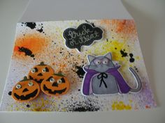 Halloween Card, SSS dies and stamps