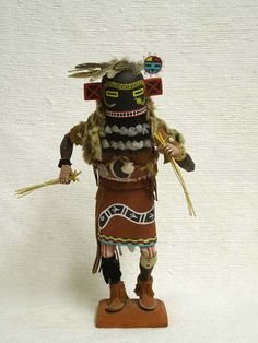 Antique Native American Hopi Carved Whipper Katsina Doll by Arthur Holmes Sr.