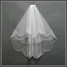 Elbow Length Wedding Veil Wedding Veil by XiaoYuBridalBoutique