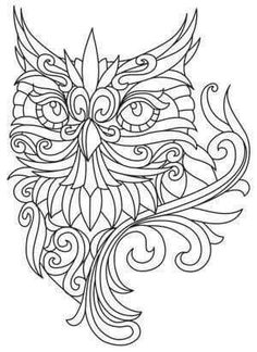 Awesome owl drawing outline