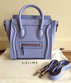 Céline Luggage Nano Boston Cross Body Tote Light Blue   eBay Years ago,  when I. Celine HandbagsCeline BagLuxury ... b2b8bc86b18