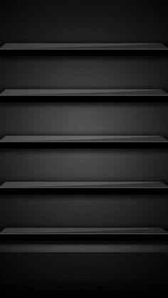 渋めの黒い棚壁紙