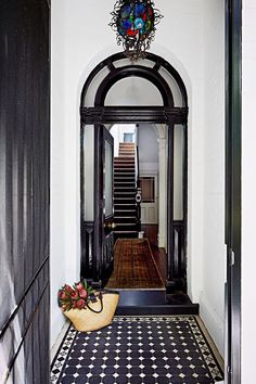 House With Porch, House Front, Hall Tiles, Melbourne Apartment, Porch Tile, Small Hallways, Victorian Homes, Victorian Terrace House, Future House