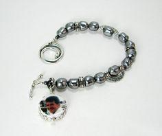 Romanesque Style Photo Charm Bracelet  XSM  by DelaneyJewelry, $139.00