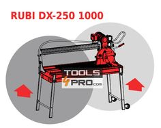 Cortadora azulejos eléctrica RUBI DX-250 1000 laser y nivel