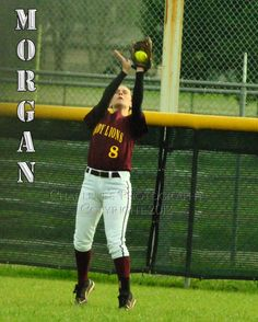 New Boston Lady Lion, #8 Morgan Holcomb is a sophomore playing left field.