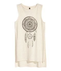 eb1d2c4536c9e2 Long Tank Top with Slits on sides
