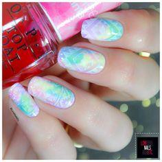 Stamping Master Rainbow OP sheer tints & MoYou London explorer5