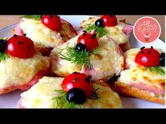 "How to make Ladybug sandwiches - Fun food for kids -  Бутерброды ""Божья ..."