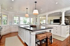 Windows and columns exemplify Cape Cod style  - Cape Cod Beach Home Inspiration