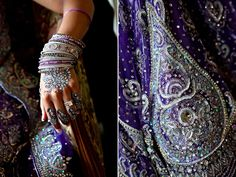 the royal blue and silver details are exquisite! especially the silver lining henna!