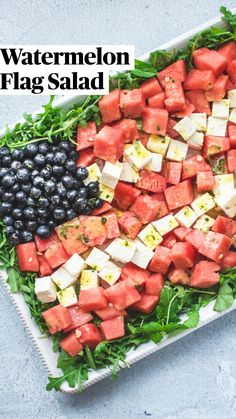 Fruit Salad Recipes, Appetizer Recipes, Dinner Recipes, Appetizers, 4th Of July Desserts, Fourth Of July Food, July 4th, Healthy Snacks, Healthy Eating