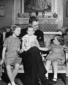 CaptionChildren of the New King of Denmark, with their grandfather , Crown Prince Gustav Adolf of Sweden . When the family visited Stockholm at Easter . The princesses are left to right Crown Princess Margrethe ; Princess Anne - Marie and Princess Benedikte . 21 April 1947