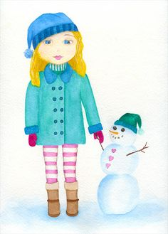 Watercolor girl #17 - Shelley