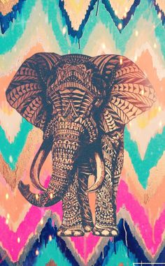 Hispter elephant colorful by Me